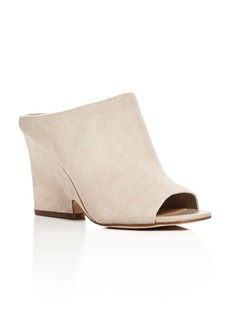 Sam Edelman Wayne Peep Toe Wedge Slide Sandals
