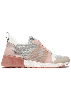 Sam Edelman Woman Darsie Faux Leather And Pvc-trimmed Mesh Sneakers Antique Rose