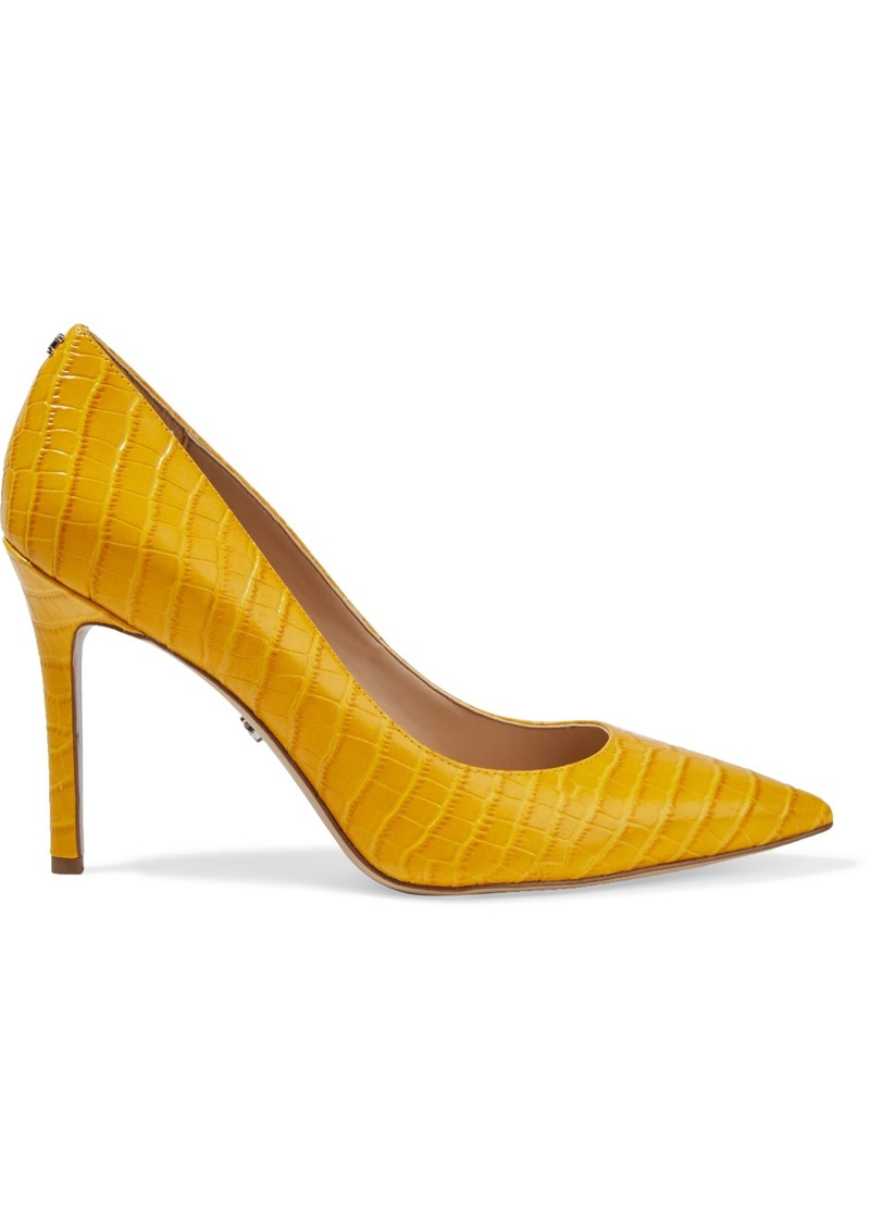 Sam Edelman Woman Hazel Croc-effect Leather Pumps Marigold