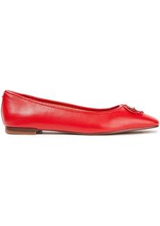 Sam Edelman Woman Jillie Bow-embellished Leather Ballet Flats Red