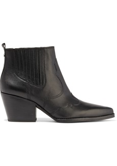 Sam Edelman Woman Winona Paneled Leather Ankle Boots Black