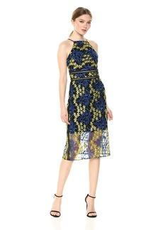 Sam Edelman Women's 2 Tone midi lace Dress