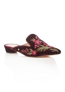 Sam Edelman Women's Aven Velvet Embellished Mules