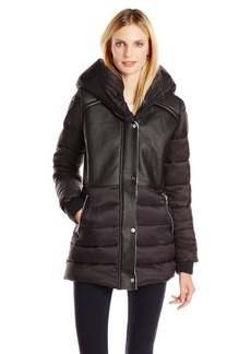 Sam Edelman Women's Brooklyn Down Coat with Sherpa Lining and Hood