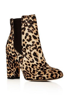 Sam Edelman Women's Case Leopard Print Calf Hair High Heel Booties