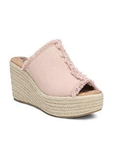 Sam Edelman Women's Dina Fringed Espadrille Wedge Slide Sandals