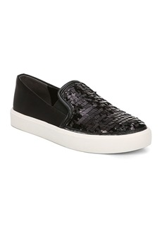 Sam Edelman Women's Elton Sequined Satin Slip-On Sneakers