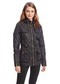 Sam Edelman Women's Lexi Quilted Jacket with Plaid Trim
