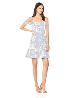 Sam Edelman Women's Floral Stripe Embroidery Dress