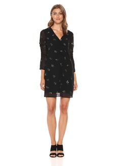Sam Edelman Women's Foil Printed a Line Dress