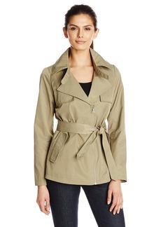 Sam Edelman Women's Gabriella Short Trench Coat  X-Small