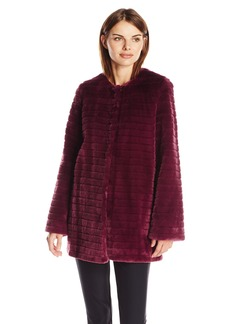 Sam Edelman Women's Janet Faux Fur Coat  arge