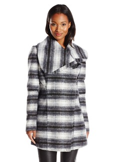 Sam Edelman Women's Kit Plaid Wrap Coat