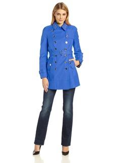 Sam Edelman Women's Lorissa Stud Collar Trench Coat