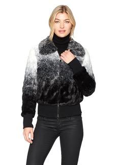 Sam Edelman Women's Ombre Bomber Jacket Grey M