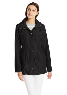 Sam Edelman Women's Packable Rain Jacket with Printed Lining  X-Large