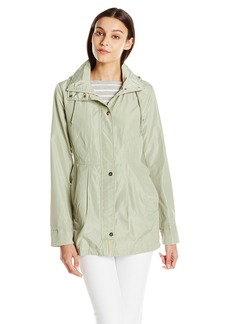Sam Edelman Women's Packable Rain Jacket with Printed Lining  X-Small