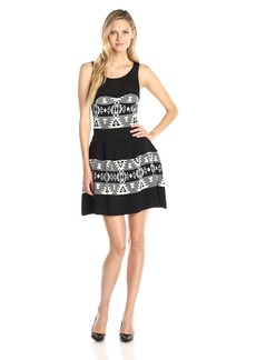Sam Edelman Women's Perry Jacquard Dress Black/Ivory