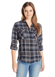 Sam Edelman Women's Plaid Split Back Blouse