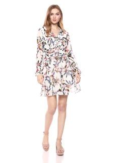 Sam Edelman Women's Printed a line Dress with pin Tucks