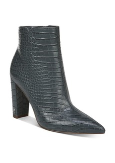 Sam Edelman Women's Raelle Croc-Embossed Booties