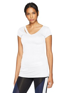 Sam Edelman Women's Ripped Short Sleeve Tee Shirt  L