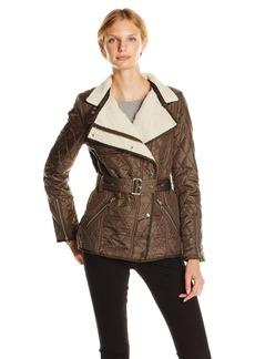 Sam Edelman Women's Rylie oto Quilted Jacket  edium