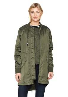 Sam Edelman Women's Satin 2 in 1 System Jacket  L