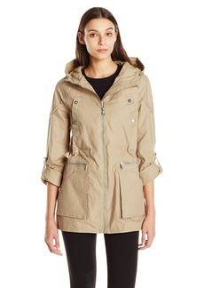 Sam Edelman Women's Side Slit Anorak with Hood