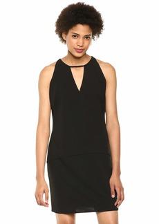 Sam Edelman Women's Sleeveless Crepe V-Neck Shift Dress