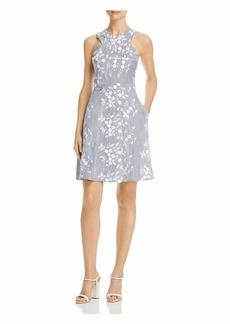 Sam Edelman Women's Sleeveless Embroidered Stripe Criss Cross Aline Dress