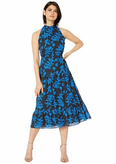Sam Edelman Women's Sleeveless Graphic Botanic Halter Dress