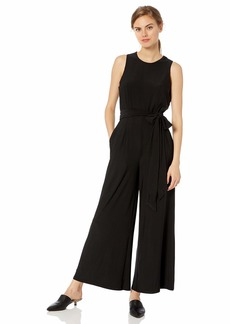 Sam Edelman Women's Sleeveless Jumpsuit with Tie Waist