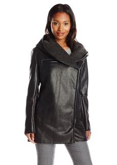 Sam Edelman Women's Sydney Hooded Sherpa Coat