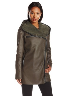 Sam Edelman Women's Sydney Hooded Sherpa Coat