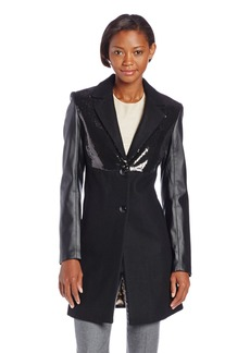 Sam Edelman Women's Wool Coat with Sequins