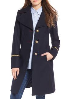 Sam Edelman Wool Blend A-Line Military Coat