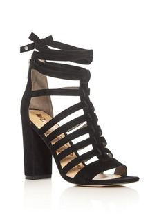 Sam Edelman Yarina Caged Ankle Tie High Heel Sandals
