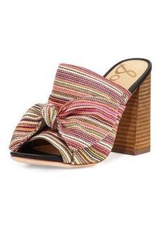 Sam Edelman Yumi Woven Stripe Heeled Mule Sandal