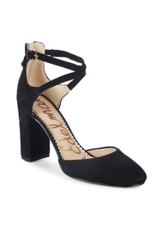 Sam Edelman Simmons Ankle-Strap Suede Pumps