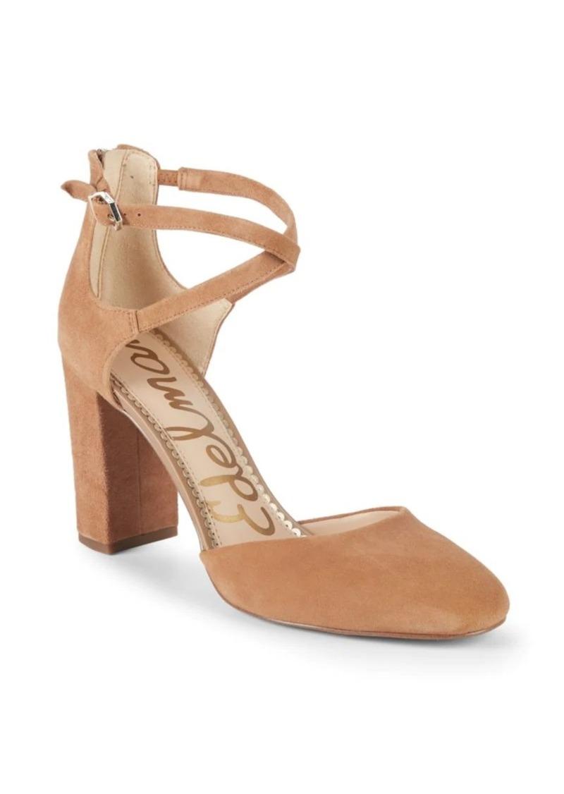 Sam Edelman Simmons Suede Ankle-Strap Sandals