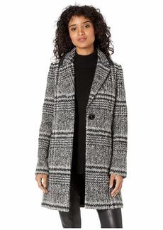 Sam Edelman Single Breasted Cutaway Wool Coat
