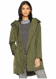 Sam Edelman Single Breasted Hooded Trench Coat