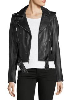 Sam Edelman Starburst Nail Head Leather Jacket