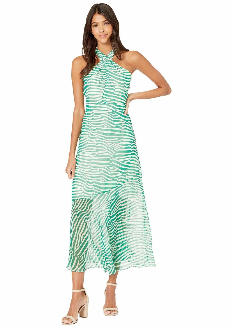 Sam Edelman Stripe Graphic Maxi Dress