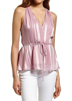 Sam Edelman Striped Drawstring Peplum Top