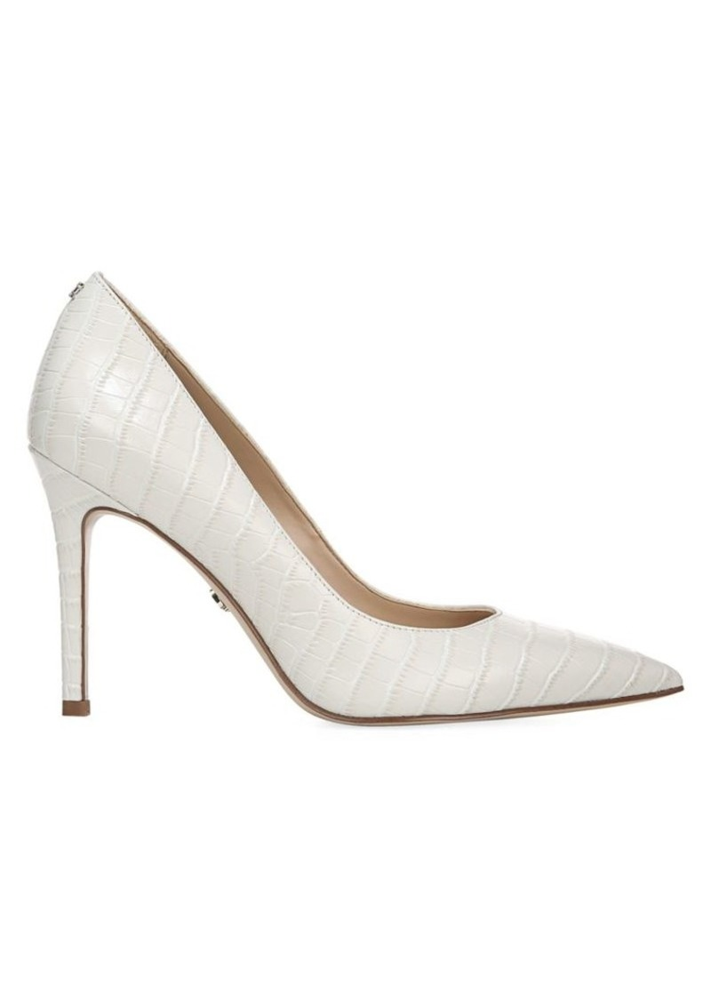 Sam Edelman Trailblazer Hazel Croc-Embossed Leather Pumps
