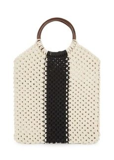 Sam Edelman Veronica Macrame Top Handle Bag