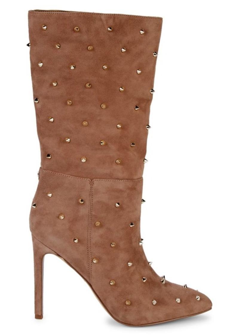 Sam Edelman Waylyn Studded Suede Stiletto Boots