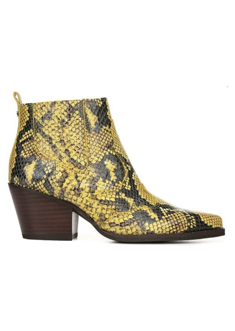 Winona Snake Print Leather Ankle Boots